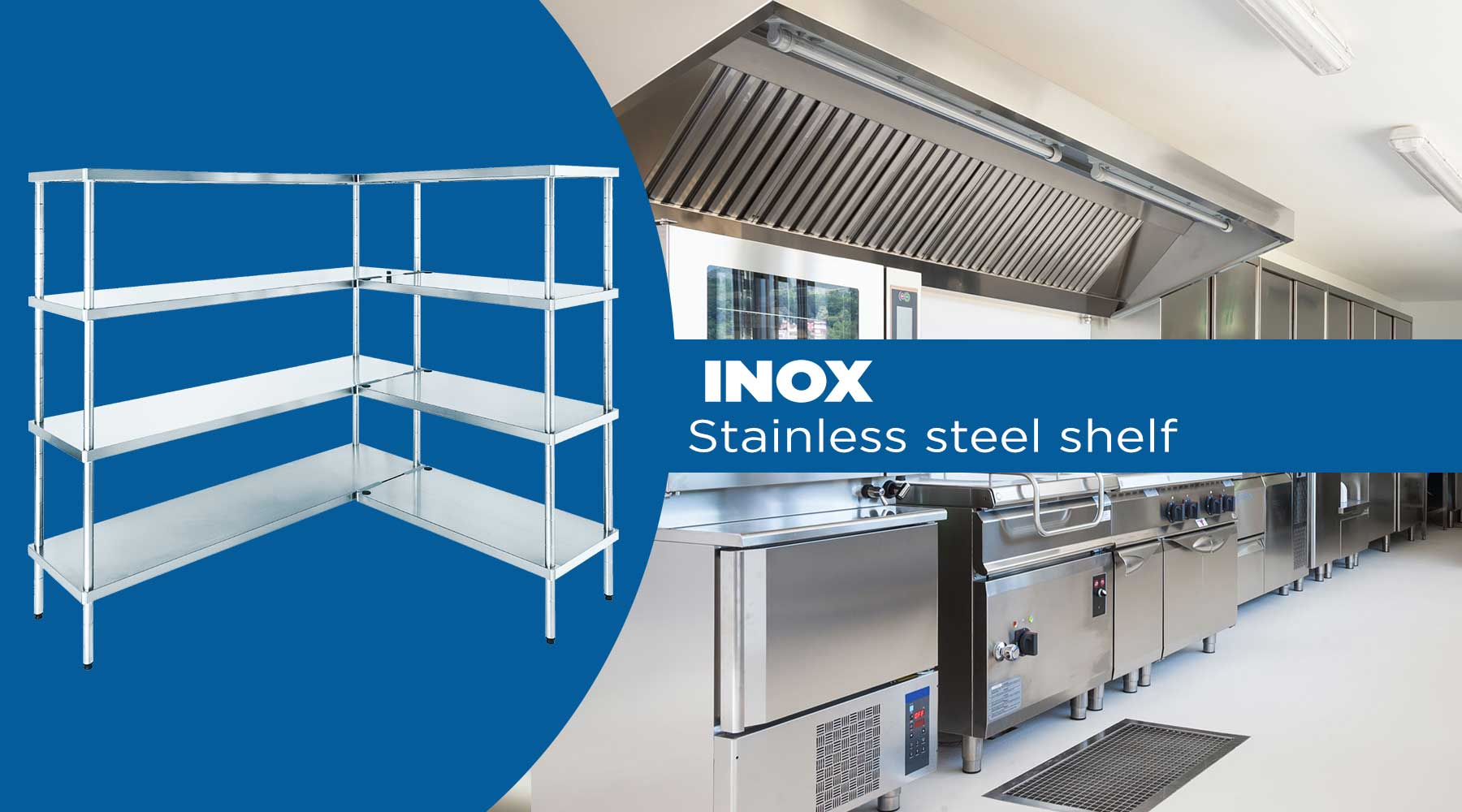steel shelves for food pantries
