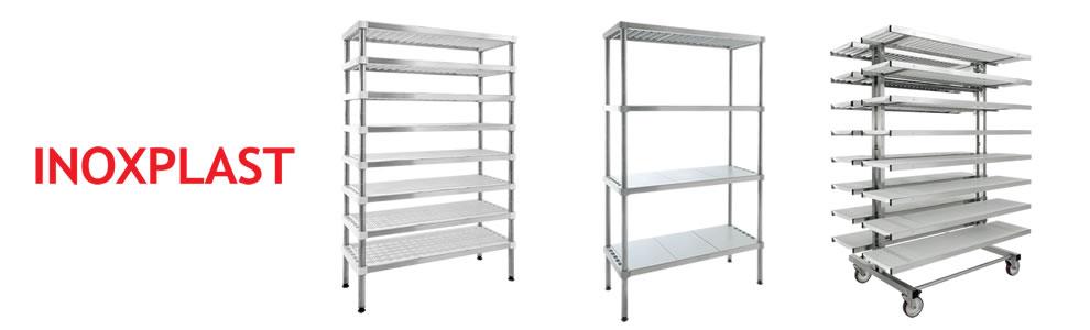 Stainless steel shelves for harsh environments