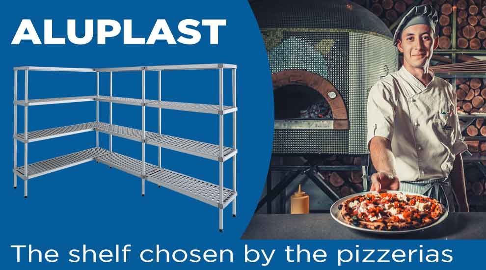 Shelf for bars, restaurants, pizzerias and ice cream parlors