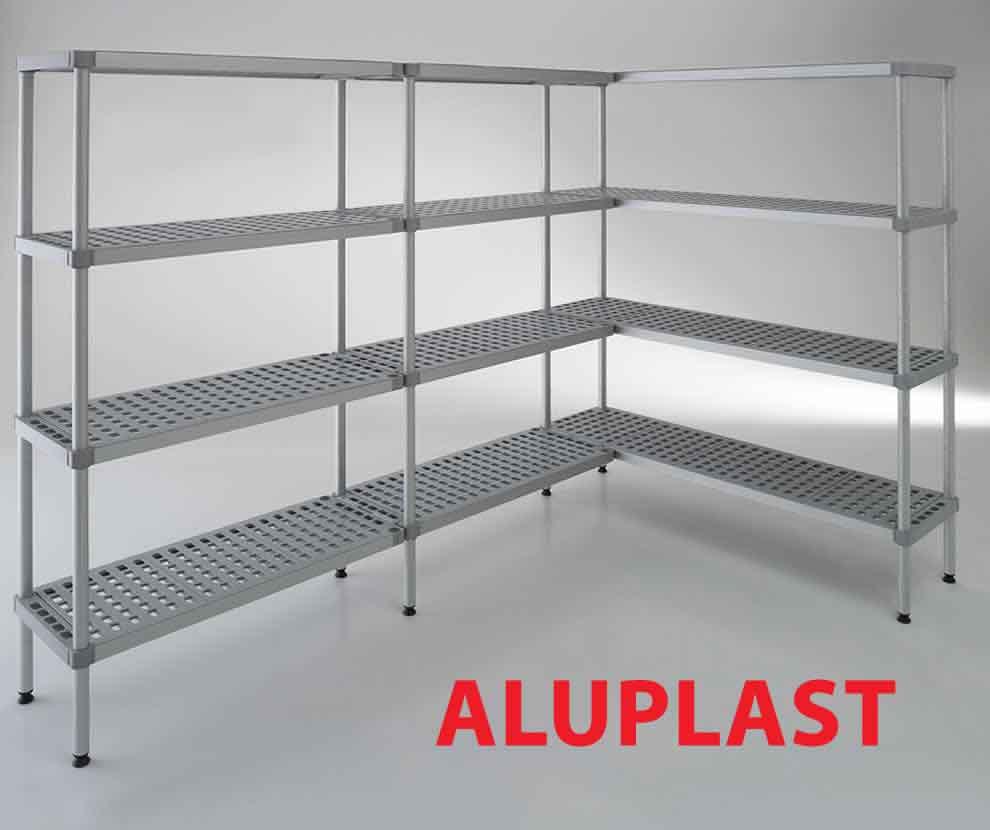 Scaffali per alimenti modello Aluplast